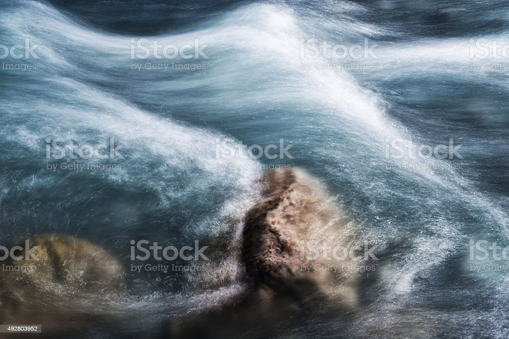 fresh river water blurred image stock photo