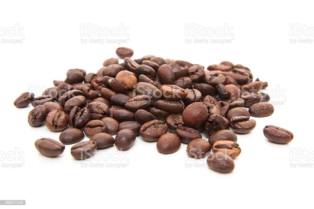 Fresh roasted coffee beans stock photo