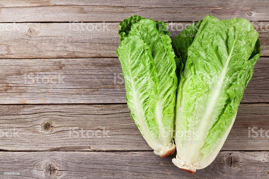 Fresh Romano salad stock photo