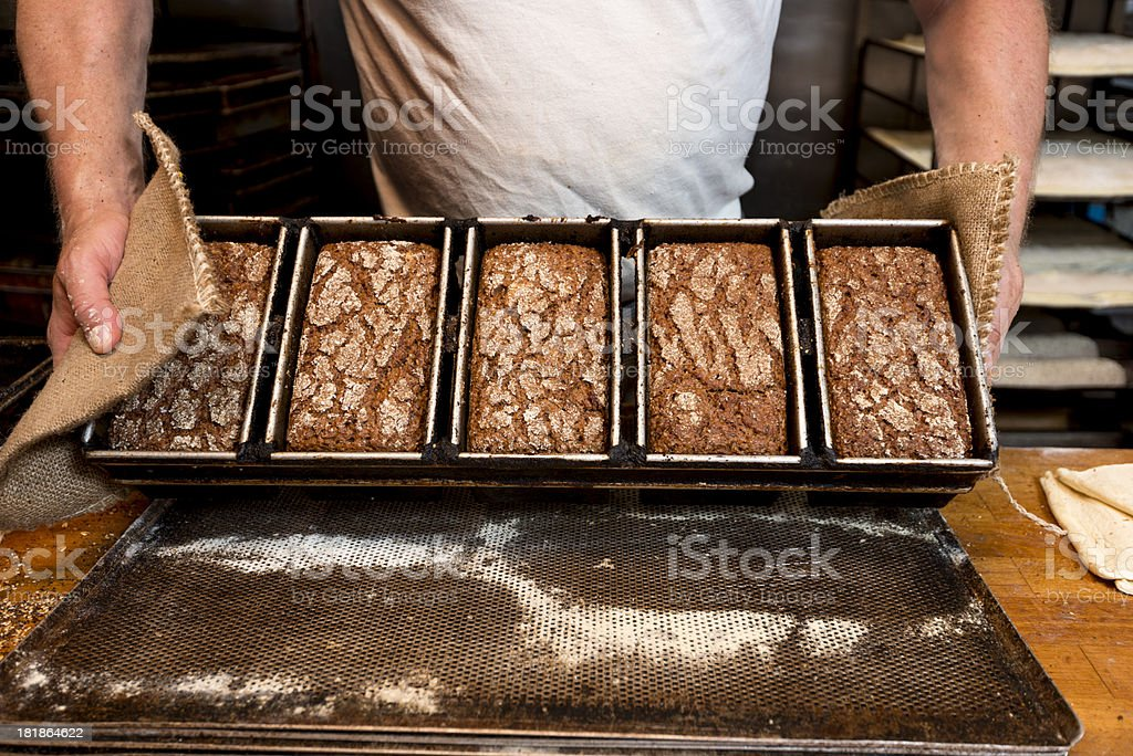 Fresh Rye Bread stock photo