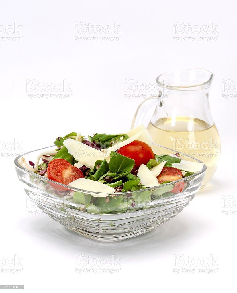 fresh salad and apple vinegar royalty-free stock photo