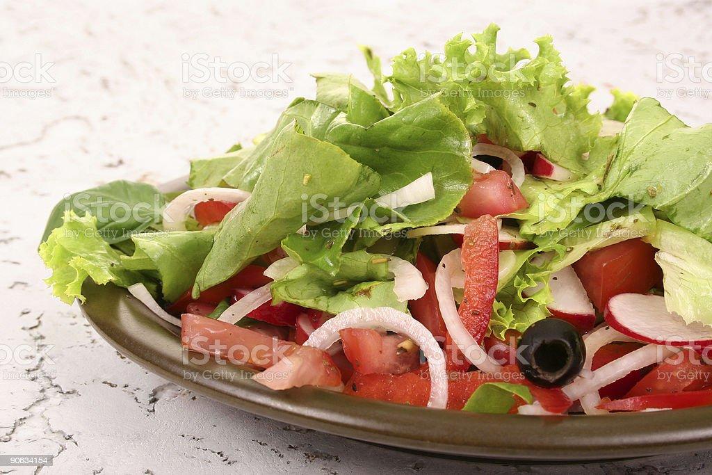 Fresh salad and tomato royalty-free stock photo