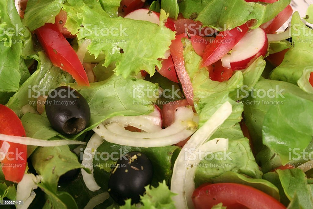 fresh salad and tomato royalty-free stock photo