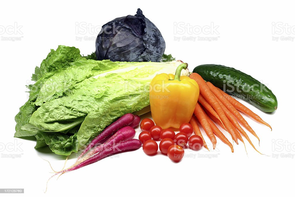 fresh salad ingredients royalty-free stock photo