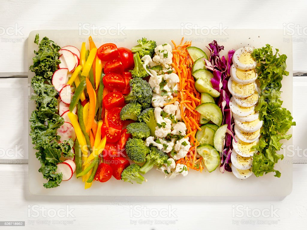 Fresh Salad Ingredients stock photo