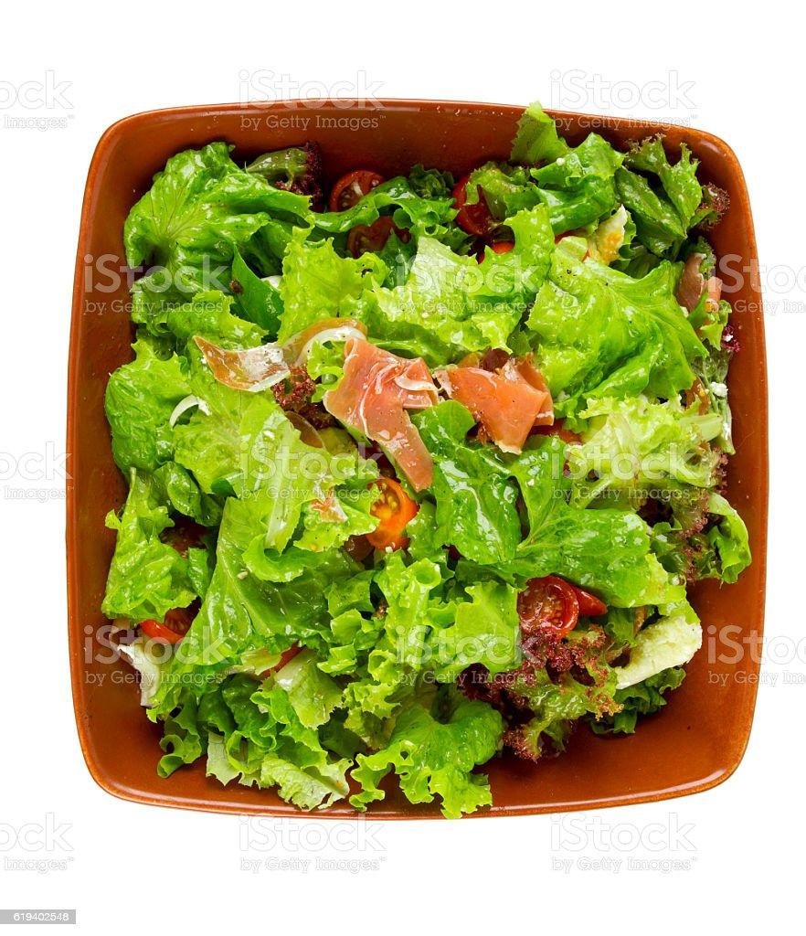 fresh salad isolated on white stock photo