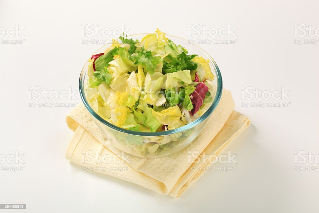 Fresh Salad Leaves Assortment stock photo