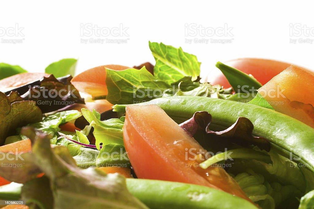 Fresh Salad (white background) stock photo