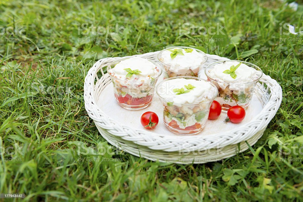 Fresh salad with cherry tomato royalty-free stock photo