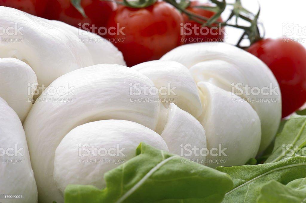 Fresh salad with cherry tomatoes, rucola, mozzarella royalty-free stock photo