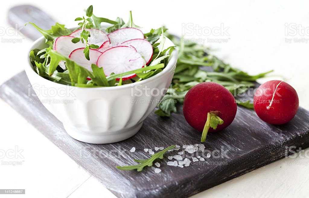 fresh salad with radish royalty-free stock photo