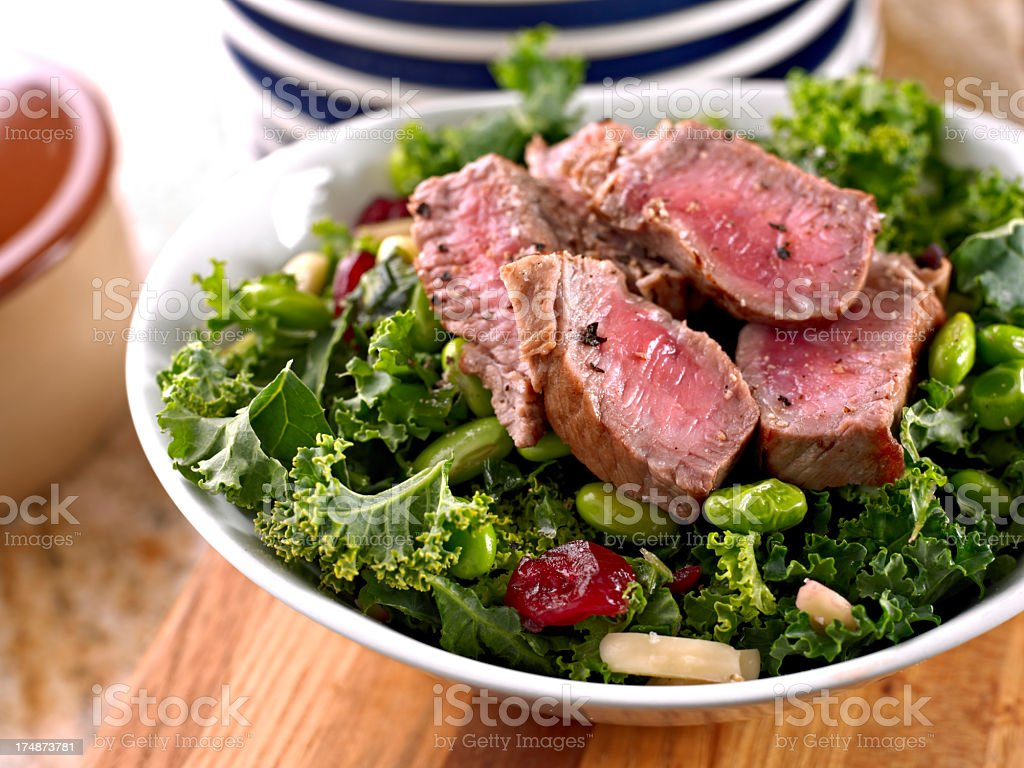 Fresh Salad with Roasted Beef. stock photo