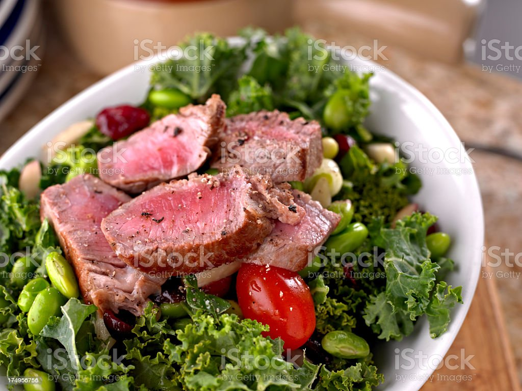 Fresh Salad with Roasted Beef stock photo