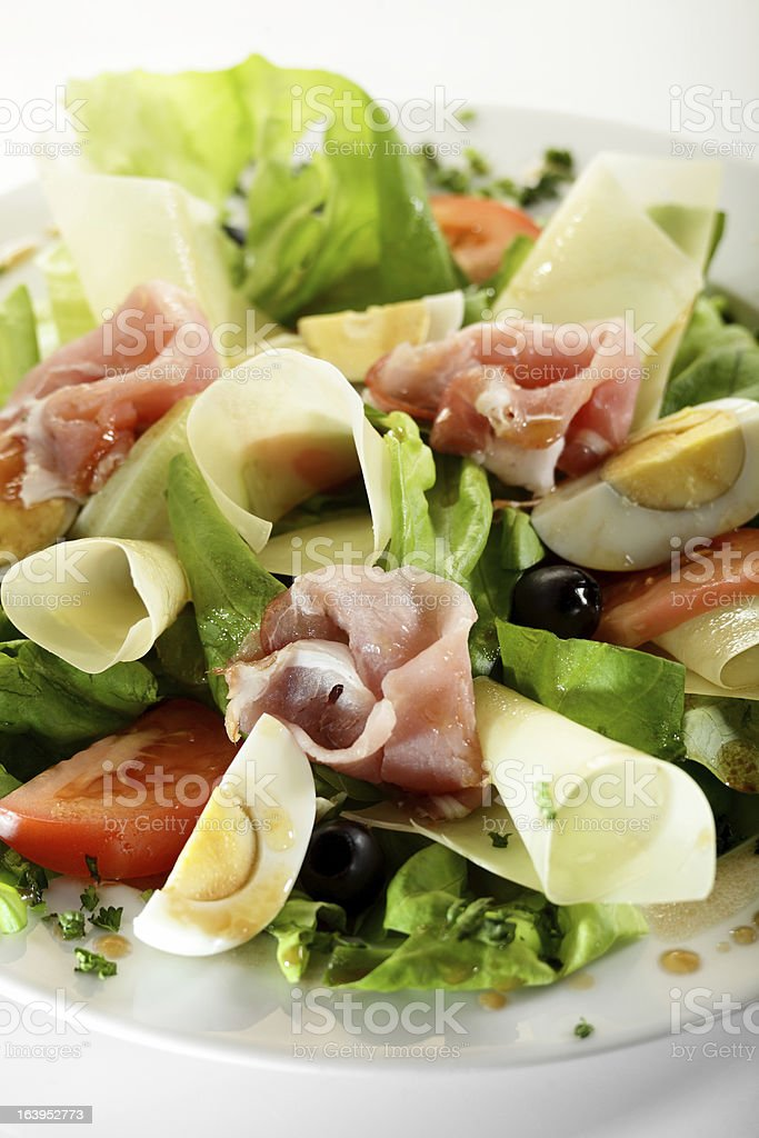 fresh salad with tasty garnish royalty-free stock photo