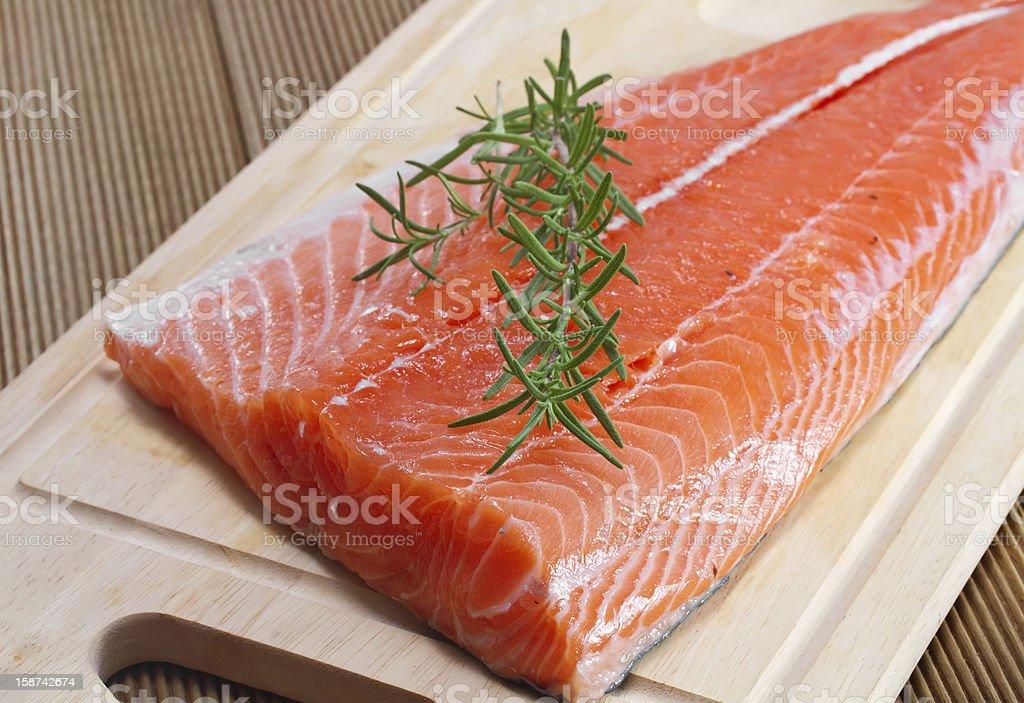 Fresh salmon fillet stock photo