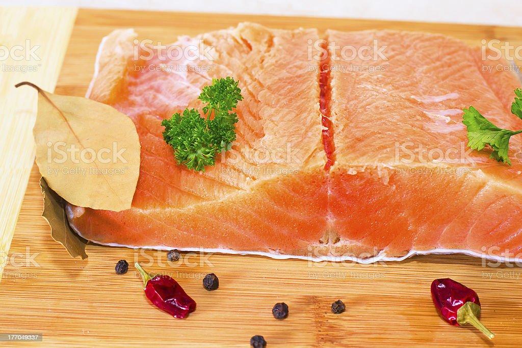 fresh salmon fillet royalty-free stock photo