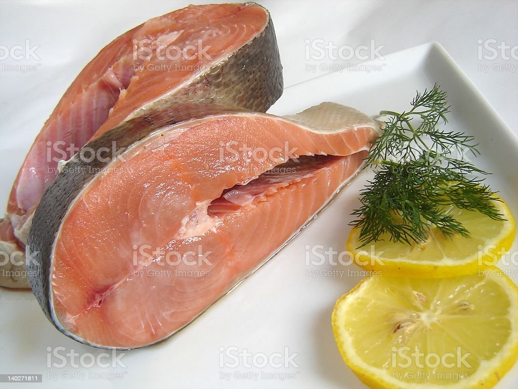 Fresh salmon royalty-free stock photo