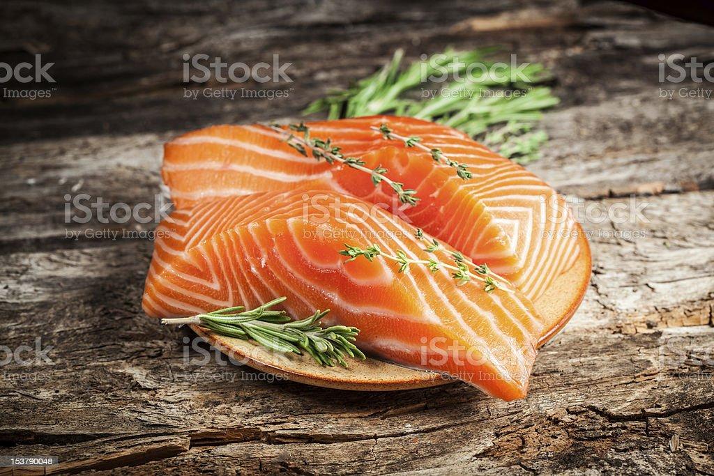 Fresh salmon. royalty-free stock photo