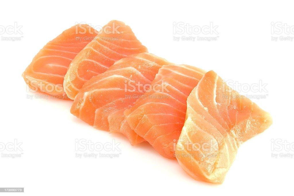 Fresh Salmon Sashimi royalty-free stock photo