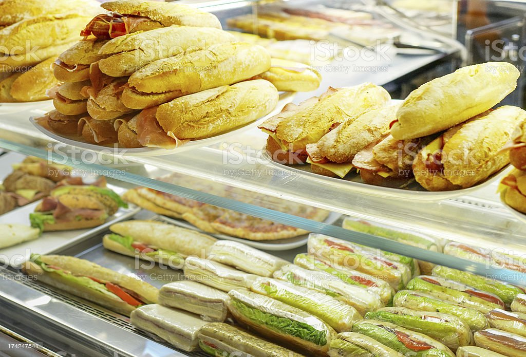 Fresh Sandwiches for sale stock photo