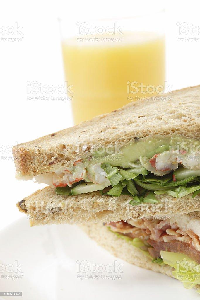 Fresh sandwiches royalty-free stock photo
