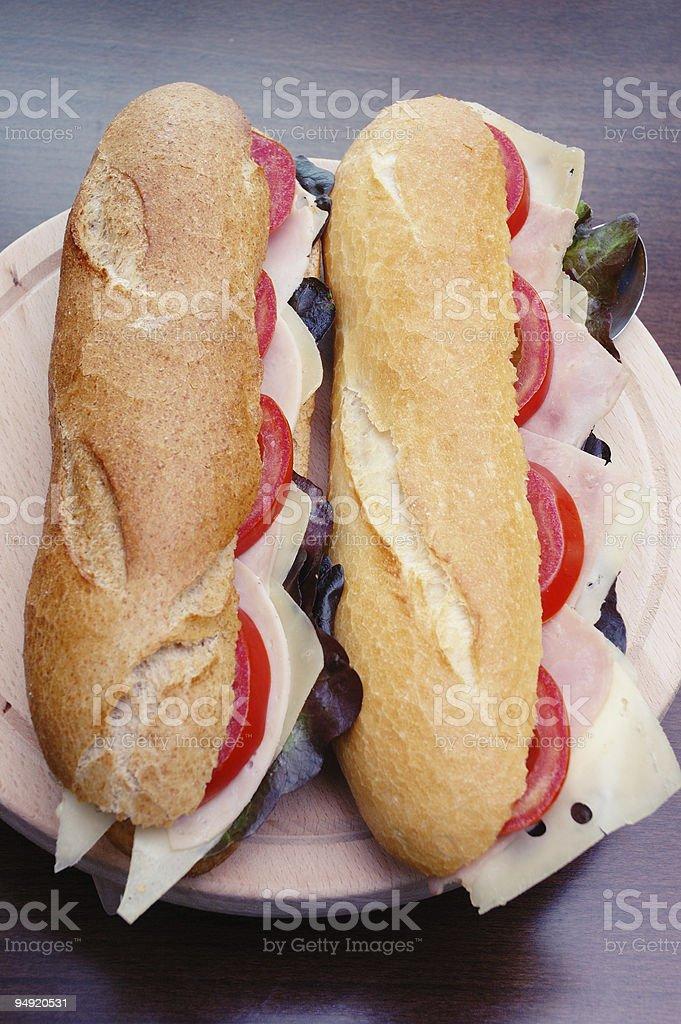Fresh sandwiches stock photo