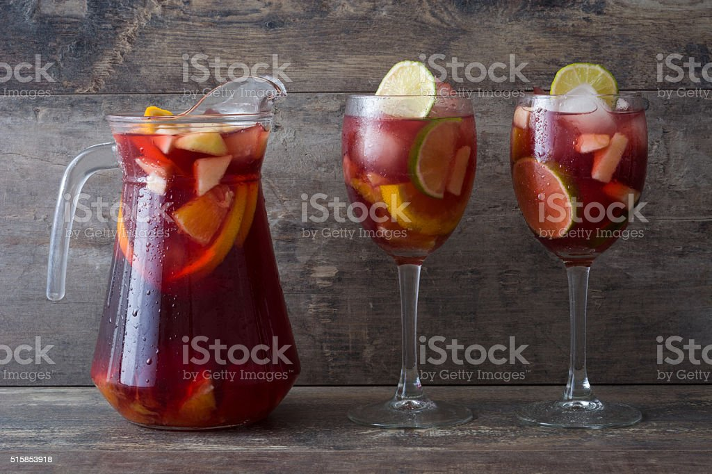 Fresh sangria stock photo