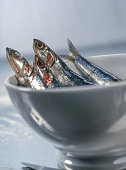 fresh sardines in bowl