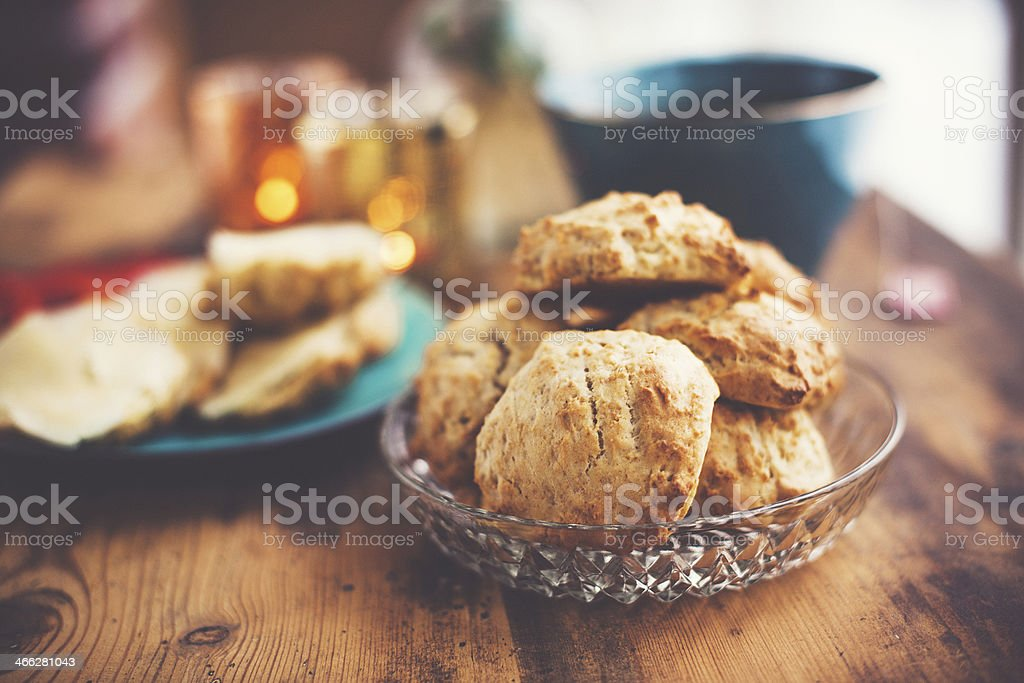 Fresh scones stock photo