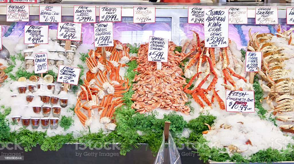 Fresh seafood for sale - I royalty-free stock photo