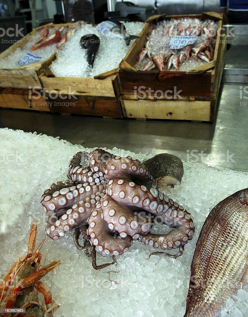 Fresh Seafood Market royalty-free stock photo