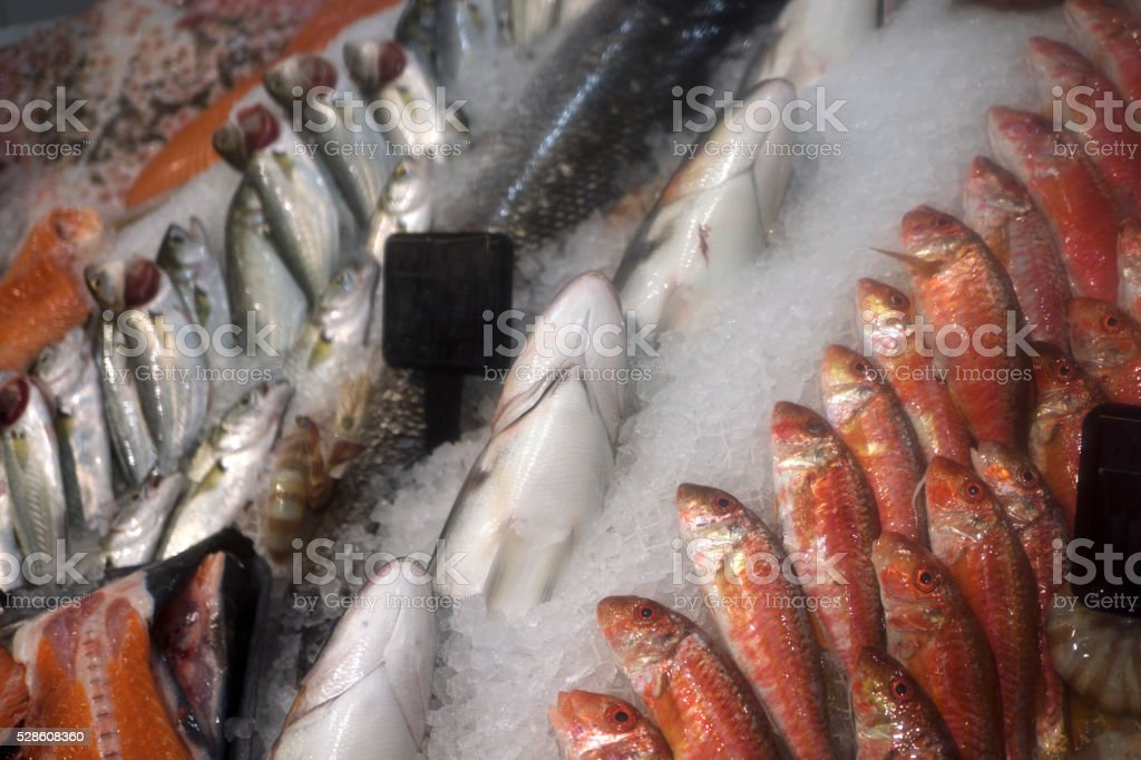 Fresh Seafood Market stock photo