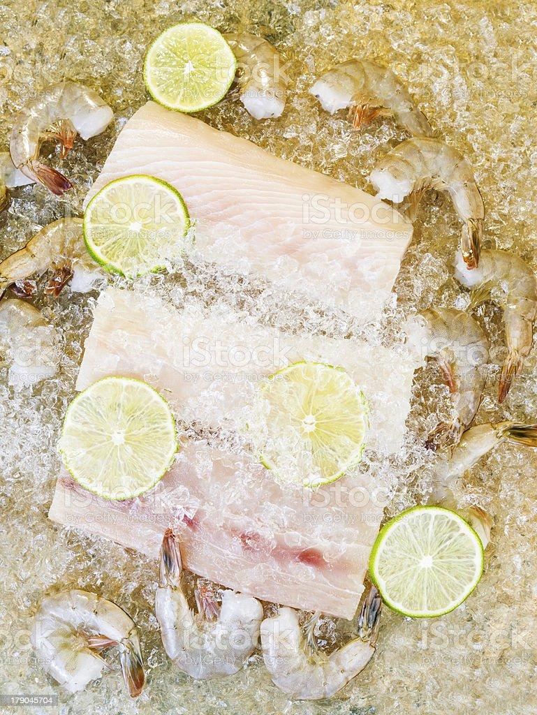 Fresh Seafood on Ice royalty-free stock photo