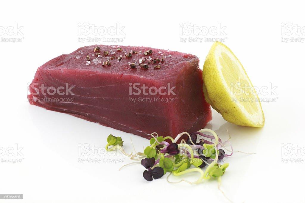 Fresh seafood, tuna stock photo