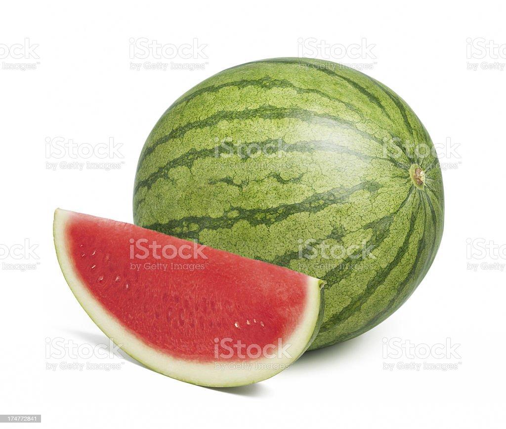 fresh seedless watermelon stock photo