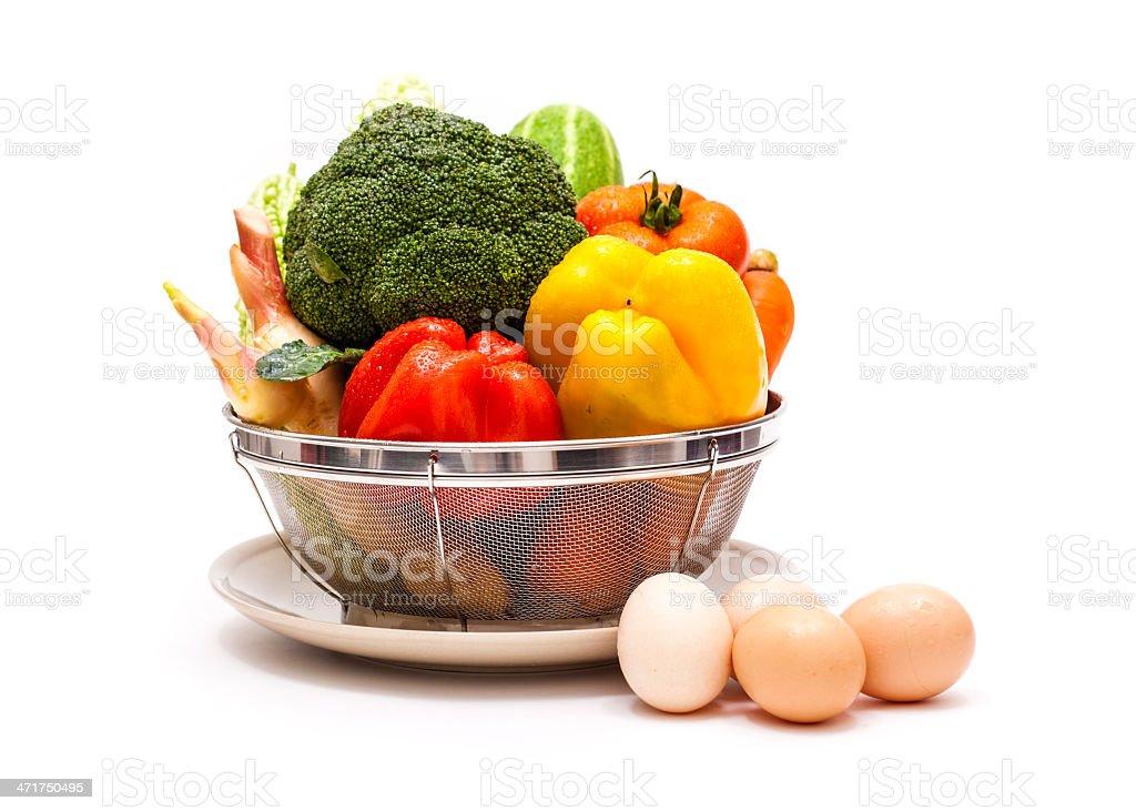 Fresh shopping basket stock photo