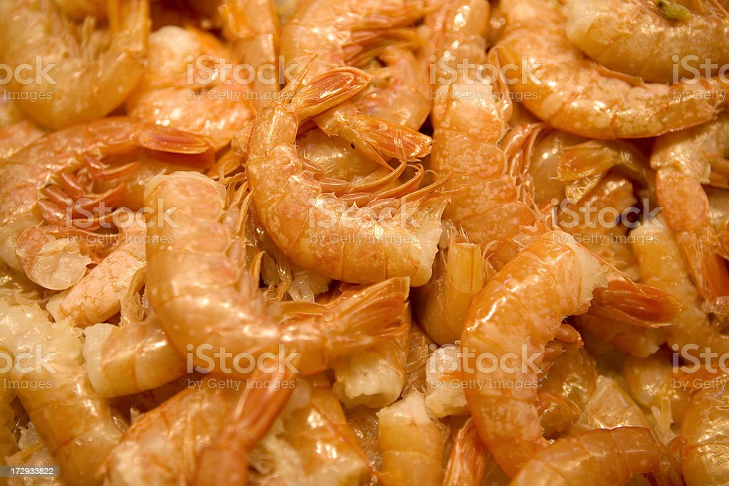 Fresh Shrimp at Market royalty-free stock photo