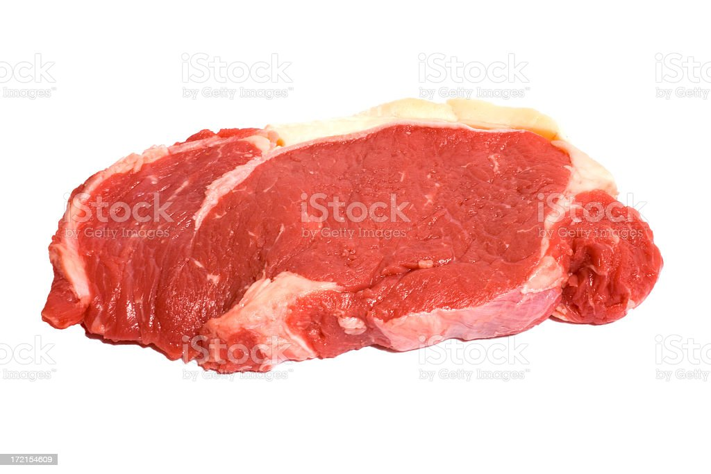 Fresh Sirloin Steak stock photo