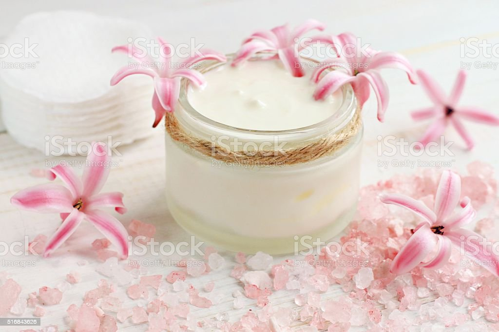 Fresh skin care cream stock photo