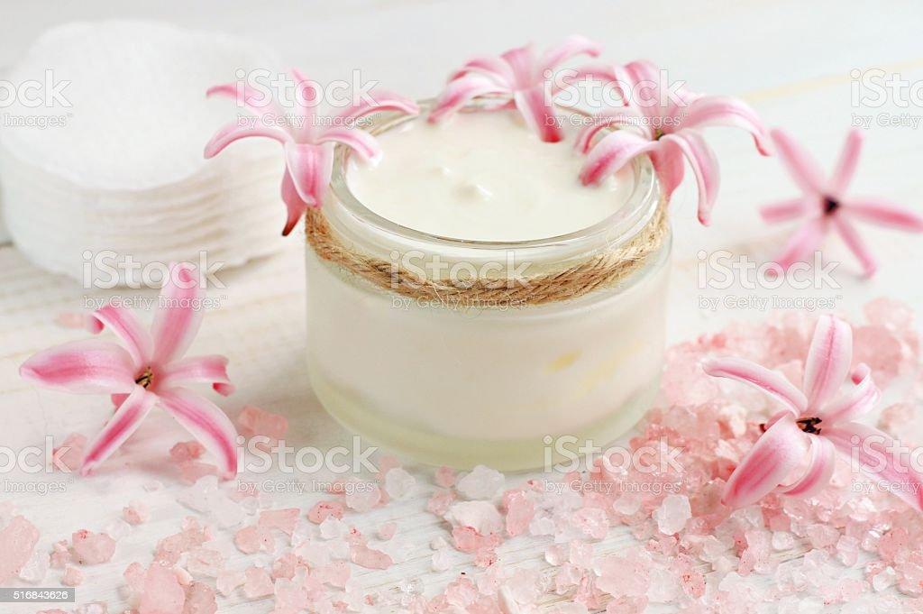 Fresh skin care cream stock photo