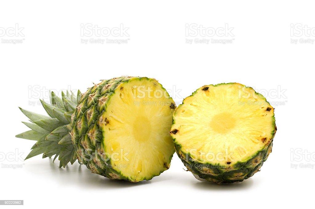 fresh slice pineapple royalty-free stock photo