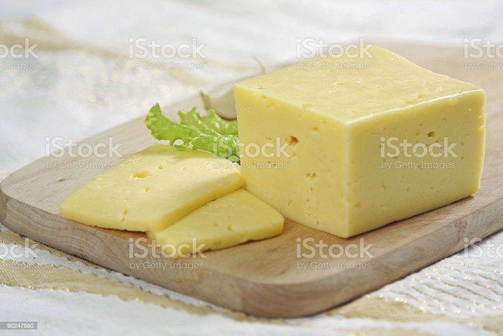 fresh sliced cheese stock photo