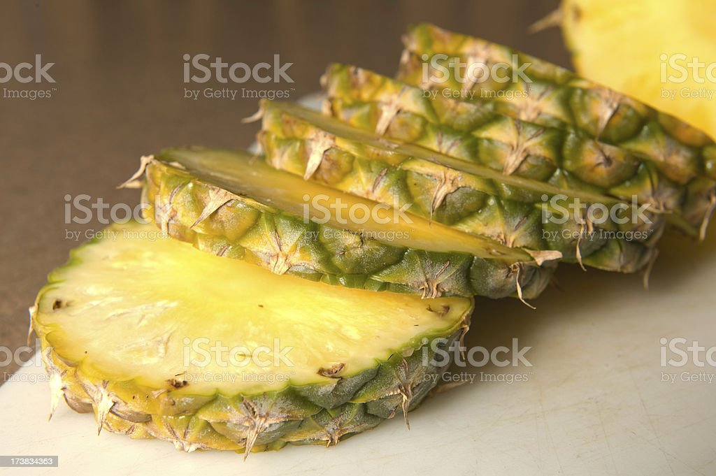 Fresh Sliced Pineapple royalty-free stock photo