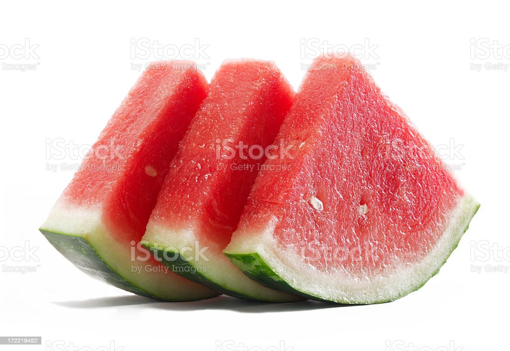 Fresh slices of watermelon. royalty-free stock photo