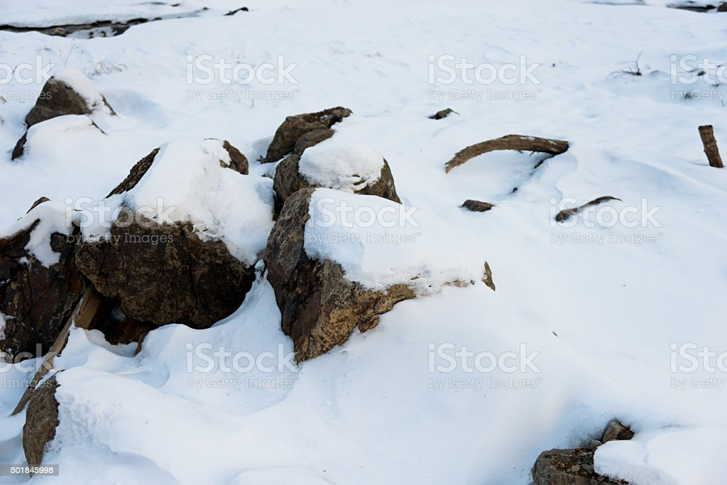 Fresh snow for background stock photo