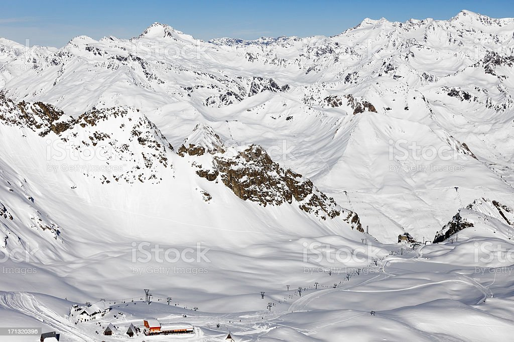Fresh snow on the top of Alps Mountains royalty-free stock photo