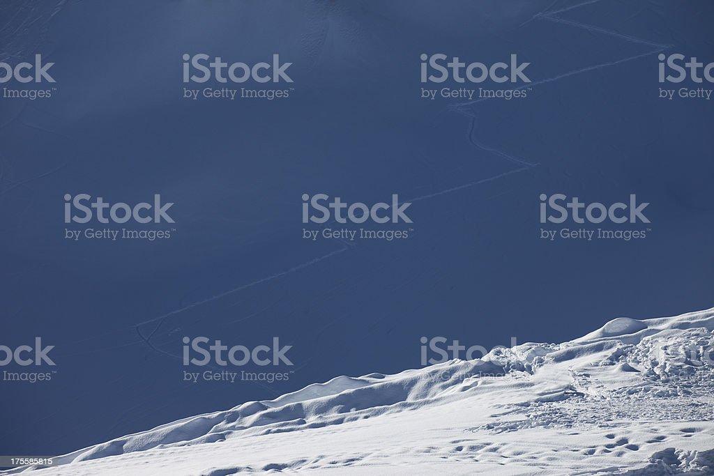 Fresh snow on the top of Alps Mountains stock photo