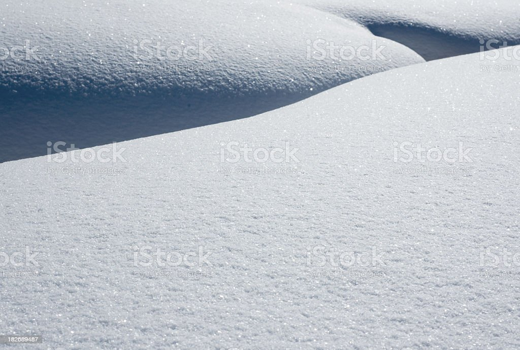 Fresh Snow Patterns royalty-free stock photo