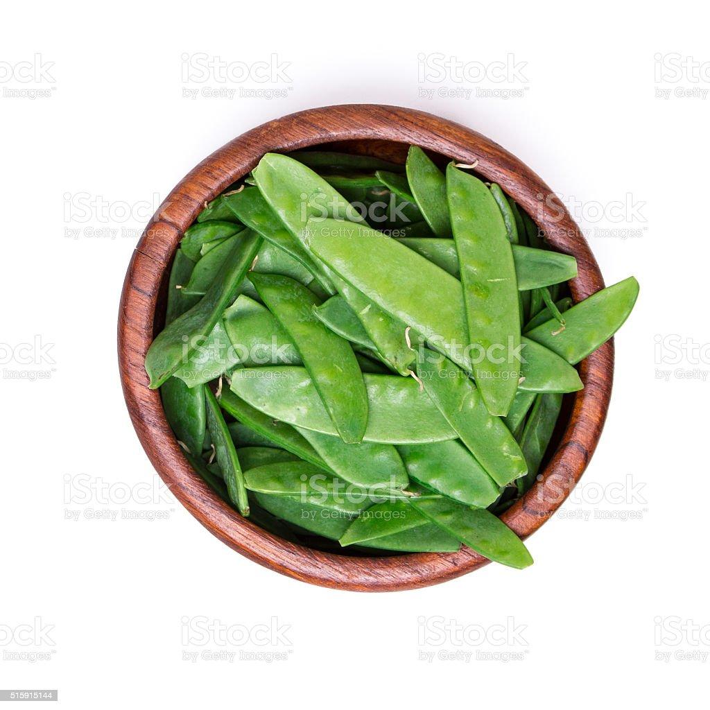 fresh snow peas stock photo