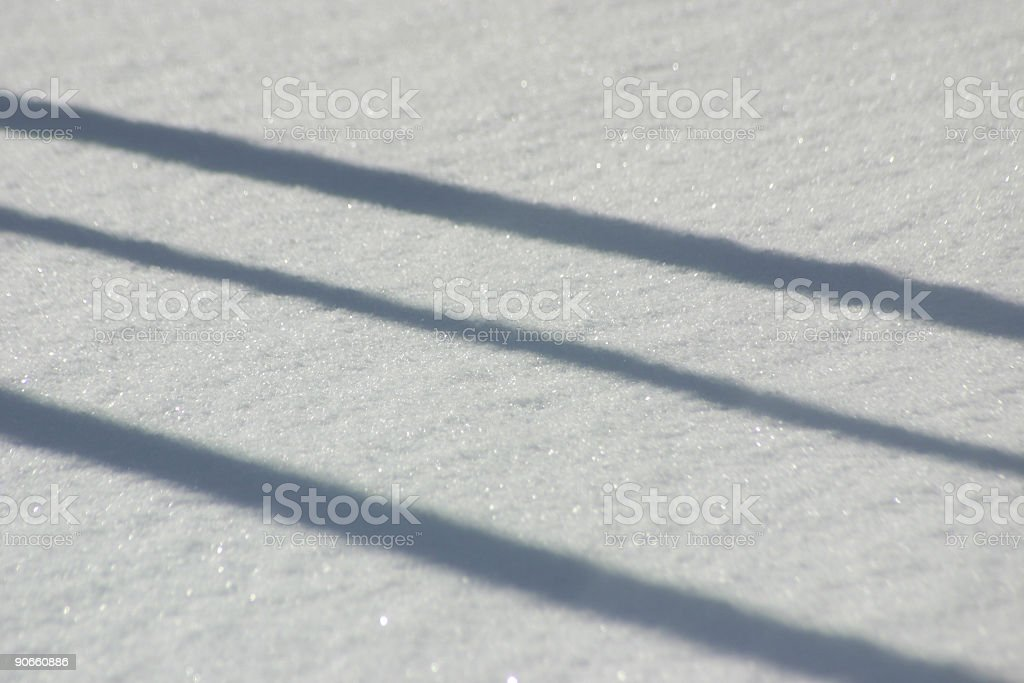 Fresh Snow With Shadow stock photo